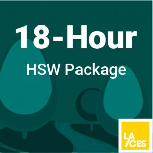 18 hour HSW package for Landscape Architects