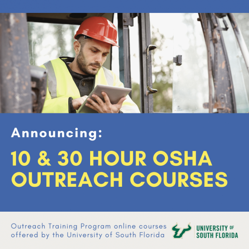 Architects Training Institute Excited to Announce New OSHA Outreach Courses